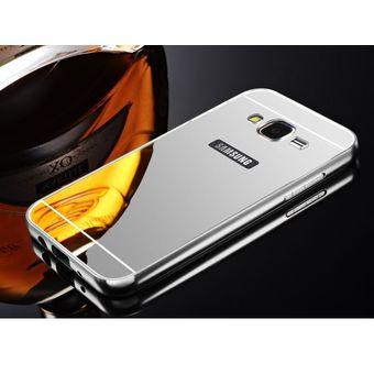 d4dd30b5d16 Case Funda Bumper Aluminio Tipo Espejo Metálico Protector Para Samsung J5  2015 / J500