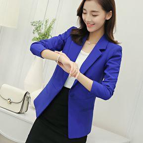 714dbcea1 Chaquetas Formales Hombreras Suelto Para Mujeres - Azul Oscuro