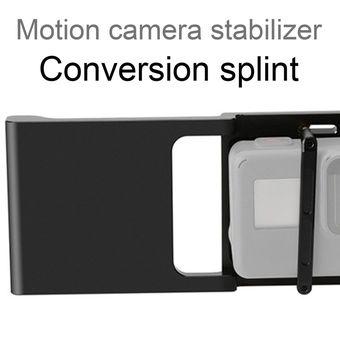 Yeliu Estabilizador Gimbal Interruptor Placa Adaptador Montaje para Gopro Hero 7 6 5 4 3 Negro