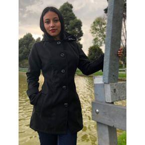 9769923e5ad Gabán Elegante Abrigo Mujer Dama Paño Ganesh A014 - Negro