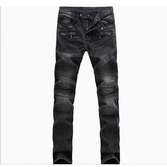 Jean Skinny Para Hombre Jeans Desgastados Delgados Elasticos Denim Biker Jeans Pantalones Hip Hop Pantalones Vaqueros Rasgados Lavados Talla Grande 28 42 Negro Linio Peru Oe991fa1bvh78lpe