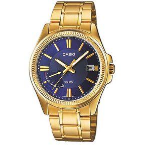 10263543a3ef Reloj Casio MTPE115GB-2A-Dorado con Azul