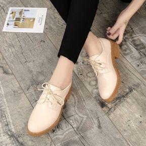 102e647a5e58c 2018 Mujeres De Primavera Estilo De Gran Bretaña Zapatos Oxford