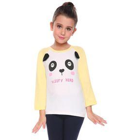 Linda Camiseta De Manga Larga O-cuello De Impresión Para Niños-Amarillo 630538400b5ea