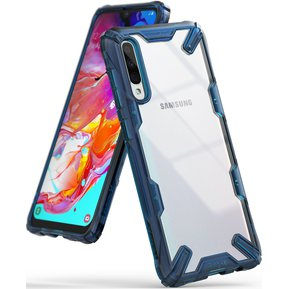 9a16b3bf915 Case Protector Funda Ringke Fusion-X Rugged Antishock Samsung Galaxy A70 -  Blue