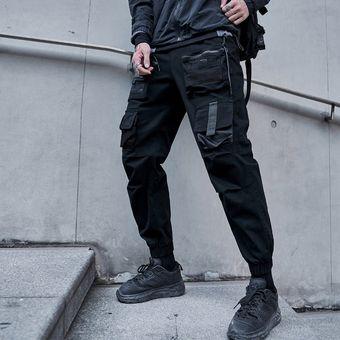 Pantalones Cargo Casual De Moda Para Hombres Pantalones De Tiro Alto Elastico Pa Black Linio Chile Ge018fa0qd98placl