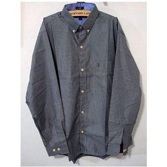 37bcf509179 Compra Camisa Manga Larga Tommy Hilfiger Hombre - Gris Oscuro online ...