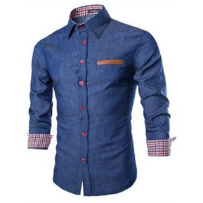 Camisa slim fit DENIM - AZUL OSCURO a083360d2706c