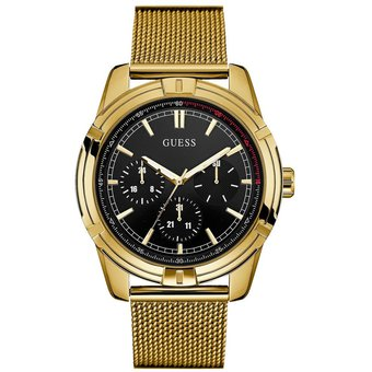 Gold Dorado Hombre Guess Tone Mesh Reloj Watch c3jAqL45RS