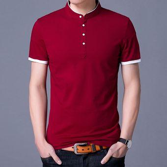 Compra Camiseta De Manga Corta Slim Para Hombre -rojo online  ef9867ca809a1