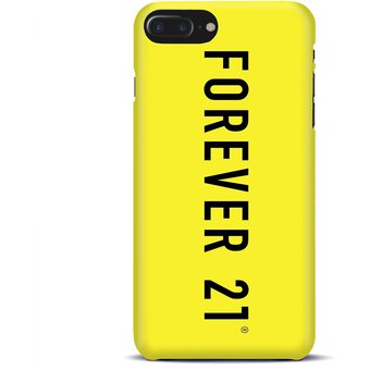 new arrival e81b2 338d1 Carcasa para IPhone 8 Plus Forever 21 Logo Yellow