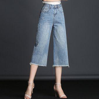 Jeans Capris De Verano Para Mujer Tallas Grandes Cintura Alta Pantalones |  Linio Chile - GE657FA0I9PNULACL