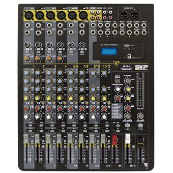 Consola Mixer Skp Vz-12.4 12 Canales Usb Rec 48v Mp3