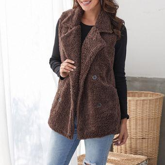Compra Chaleco Abrigo para invierno Generico Mujer-café online ... 4db92cff5adc4