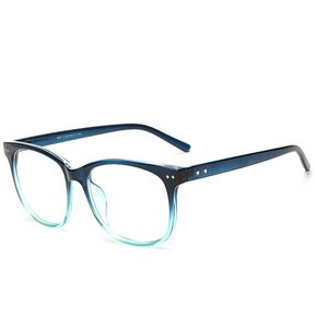 23a765f35f Agotado Moda Las Lentes ópticas Hipster Gafas Grande Cuadrado Los Anteojos  Marco Miopía -Azul Verde