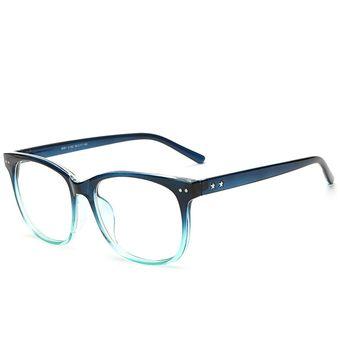 e1946be981 Agotado Moda Las Lentes ópticas Hipster Gafas Grande Cuadrado Los Anteojos  Marco Miopía -Azul Verde