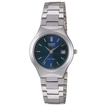 61c2fec214dd Compra RELOJ CASIO LTP LTP-1170A-2A- Plateado con azul Para Mujer ...