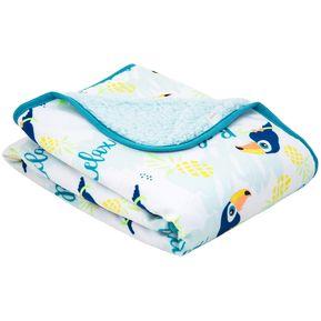 d1330a84d2a7f Frazada de Plush Bambino Modern Niño Tucan Azul