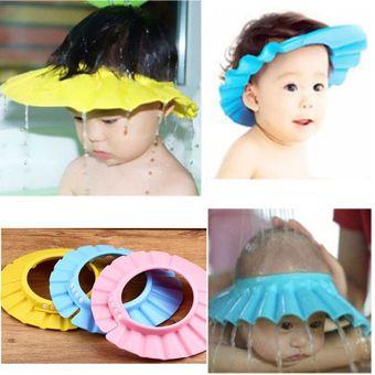 8bd5108e Compra EY Gorra De Ducha Niños Bebé Suave Baño Sombrero Ajustable ...