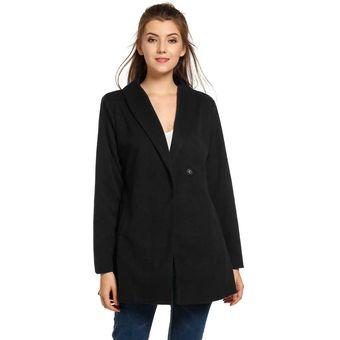 nuevo estilo elige auténtico compra especial Abrigo Lana Cruzado para Mujer-Negro