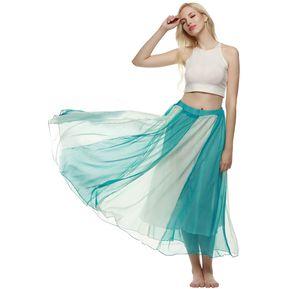 Maxi Falda De Gasa Playa Para Mujer-Azul Y Blanco fd581b10b3bf