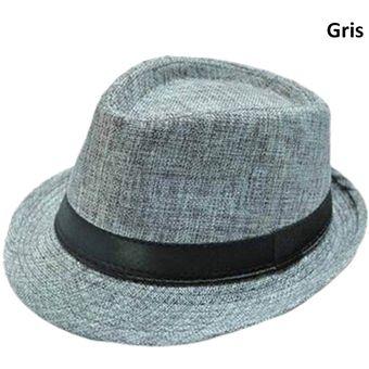 Compra Sombrero Fedora Tipo Gardel Playa Sol Talla Única Gris online ... 17923c6b7ba