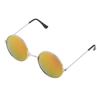 c065be478c ER Mujeres Hombres Antideslumbrante Lente Espejo Colorido Gafas Redondas  Gafas De Sol De La Vendimia Rojo