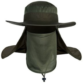 Hombre Mujer cortina tapa protectora UV Protector Solar sombrero para el  exterior Marina verde 2fd9fc46ffc