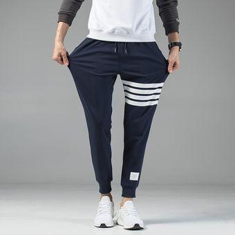 Pantalones Casuales De Algodon Hip Hop Para Hombre Pantalones De Tubo A La Moda Pantalones Con Cordon Hasta El Tobillo Para Hombre Pantalones Para Correr Blue Linio Peru Ge582fa0za3y9lpe