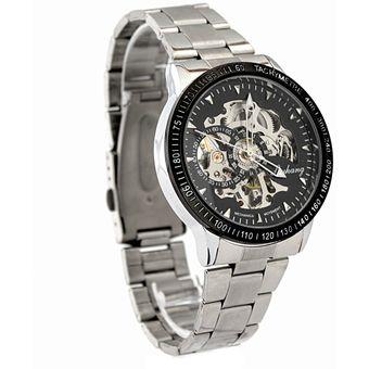 75b99a0be23c Agotado Reloj Para Hombre Análogo Modelo Deluxe BlackMamut Maquinaria  Visible Diferentes Mediciones Incluye Estuche Blister - Negro