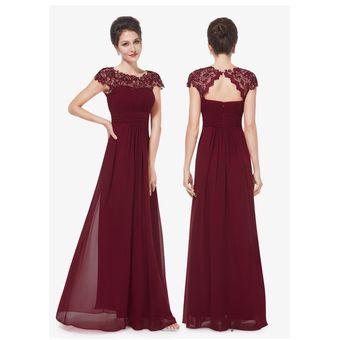 Vestido De Noche Generico Para Fiestas Vino