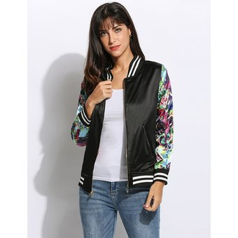 Chaqueta bomber mujer flores