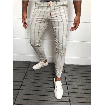 Modernos Pantalones Bombachos Ajustados A Rayas De Estilo Ingles Para Hombre Pantalon Para Cor Sai Linio Peru Un055fa1cm3yjlpe