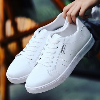 precio competitivo color rápido nueva especiales Nuevos hombres transpirable casual huecos zapatos blancos zapatos  deportivos-Blanco