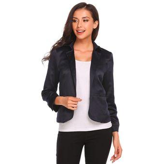 78d97980234fc Zeagoo Traje Saco Casual Blazer Jacket Con Bolsillo Casual Modern Casa Para  Mujer-Azul Oscuro