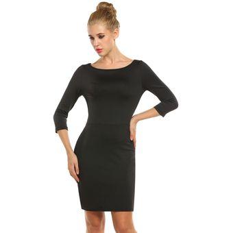 Vestido negro manga 3 4