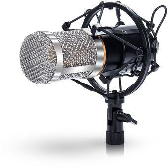 Micrófono De Condensador Mic Estudio Audio Grabación De Sonido Con Pedestal  Para-Slive fdde9e49e0e