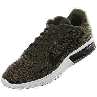 Compra Nike - Zapatillas Hombre Air Max Sequent 2 - Verde Militar ... 250245829871c