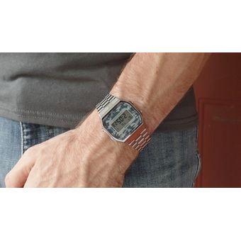 eb1d2f4115a0 Compra Reloj Casio Vintage A168 Plata Camuflaje-Plata online