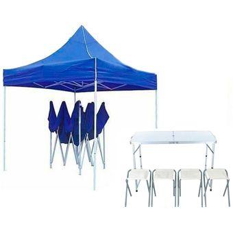 Mesa Plegable De Camping Con 4 Sillas.Toldo Plegable 3x3 Mesa Plegable Camping 4 Sillas Dcic Set Camping Multicolor