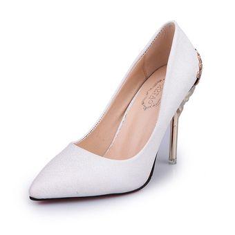056fc54f1357b Compra Zapatos De Tacón Metal Tacón Delgado Zapatos Para Mujer ...
