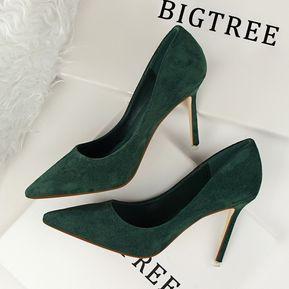 c327d5e3e Zapatos de tacón alto simples de tacón alto de tacón alto de moda de mujer