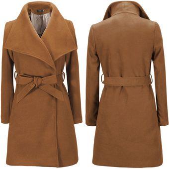 9e15b79d26bc3 Compra Mujer Casaca Abrigo De Lana Tailun-Cool-Caqui online