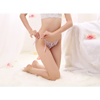 761c1cf398 Agotado Moda Lencería Sexy Calzones Perspectivas Para Mujer Ropa Interior  Lace-rosa