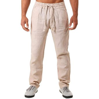Para Hombre Pantalones Sencillos Y Modernos De Algodon Puro Y Lino Pantalones De Chandal Para Correr Pantalones Deportivos 45 Wt Khaki Linio Peru Ge582fa0e4fszlpe