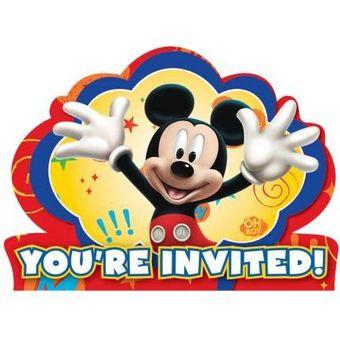 Tarjetas De Invitación Mickey Pague 1 Paquete De 8 Y Lleve Gratis El Segundo Paquete