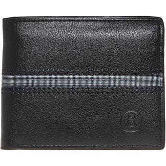 mejor amado d7572 c317c Billetera Vox eco cuero negro, con franja al medio, sin broche VOX 20046-1-