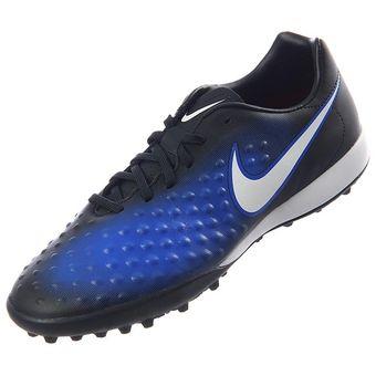 Agotado Zapatos Fútbol Hombre Nike MagistaX Onda II TF -Negro Con Azul 6d6d832b908ee