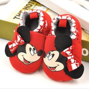 43185ad71 Zapatos De Bebé De Algodón Antideslizante Para Estudiar Andar - Rojo Mickey