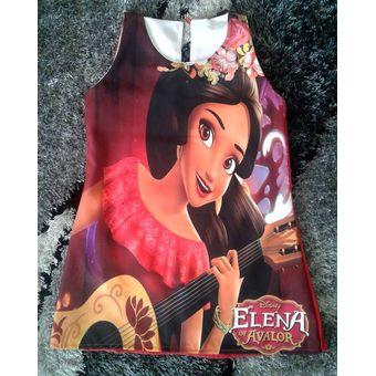 Vestido Elena De Avalor Patatitas I2202 Rojo